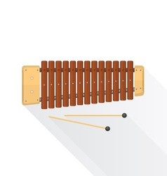 Color flat style wood xylophone vector