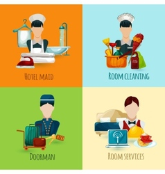 Hotel maid set vector