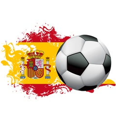 Spain soccer grunge design vector