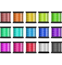 Silk thread vector