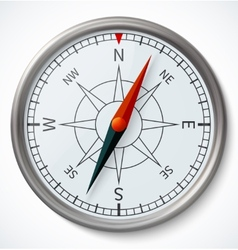 Compass isolated on a white background vector