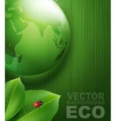 Green background on environmental issues vector