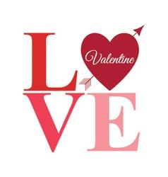 Love arrow word bright vector