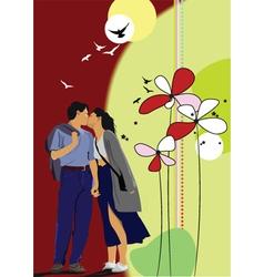 Kiss card vector