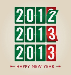 Happy new year 2013 mechanical count style vector