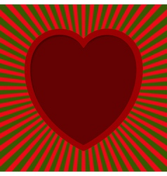 Heart with beams vector
