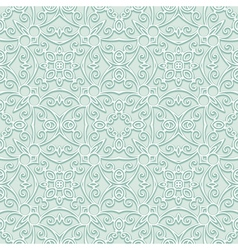 Green lacy pattern vector