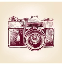 Vintage old photo camera llustration vector