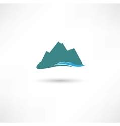 Blue mountains symbol vector