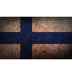 Flag of finland with old texture vector