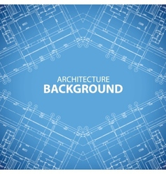 Unique building structure background vector