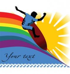 Surfing summer vector