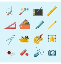 Designer tools icons vector