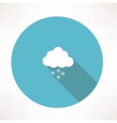 Snowing icon vector