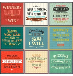 Success quotes colored set vector