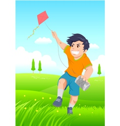 Playing a kite vector