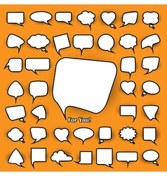 Set of chat bubbles vector