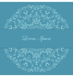 Blue card design with ornate pattern vector