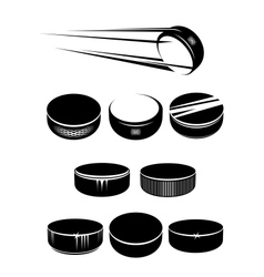 Ice hockey pucks vector