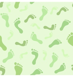 Feet seamless pattern vector