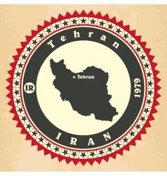 Vintage label-sticker cards of iran vector