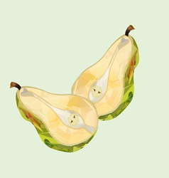 Pear halves polygonal vector