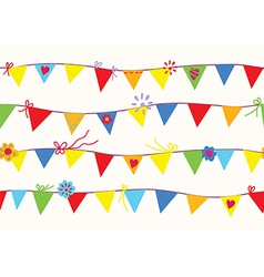 Bunting flags seamless pattern vector