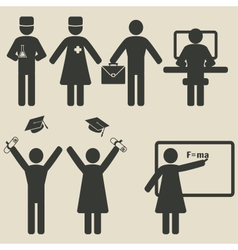 People science education icons vector