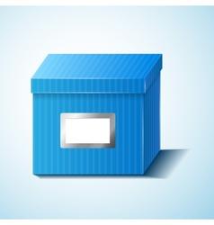Blue box isolated vector