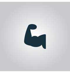 Fitness arm icon vector