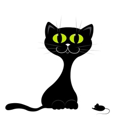Black kitten vector