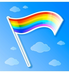 Rainbow flag vector