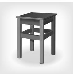 Retro wooden stool vector