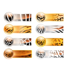 Variety of 8 horizontal web banner vector