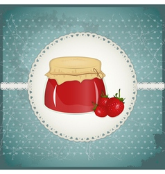 Strawberry jam vector
