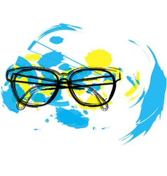 Abstract eyeglasses vector