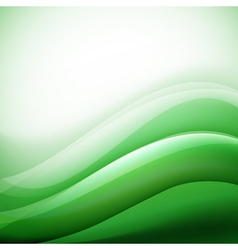Green waves background folding vector
