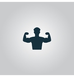 Bodybuilder fitness model icon vector
