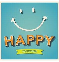 Happy and smile face retro poster eps10 vector