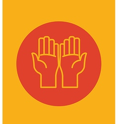 Hand sign design vector