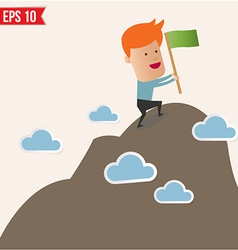 Business man climbing to the top - - eps10 vector