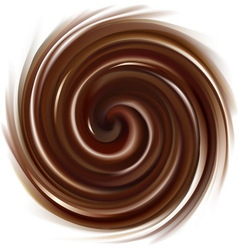 Swirling chocolate texture vector