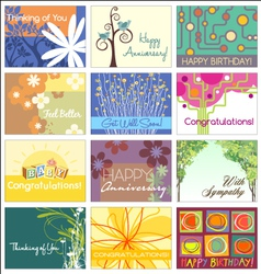 Greeting cards set vector