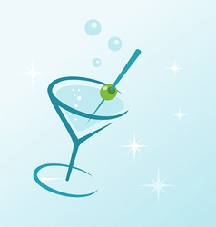 Martini drink in glass vector