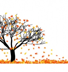 Fallen leaves vector