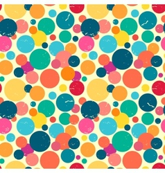 Seamless pattern with grunge dots vector