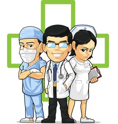 Health care or medical staff doctor nurse surgeon vector