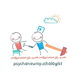 Psychoneuropathologist check the patients nerves vector