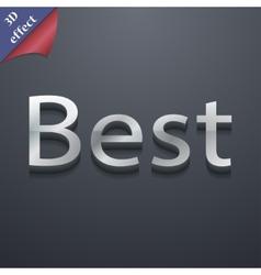 Best seller icon symbol 3d style trendy modern vector