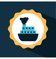 Ship icon design vector